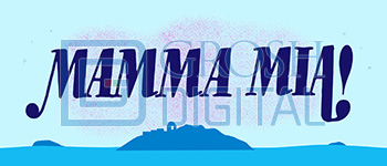 Mamma Mia Show Curtain Projected Backdrop for Mamma Mia, Show Curtains