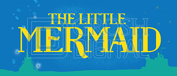 The Little Mermaid Show Curtain Projected Backdrop for