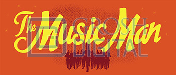 Music Man Show Curtain Projected Backdrop for