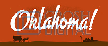 Oklahoma Show Curtain Projected Backdrop for Oklahoma, Show Curtains