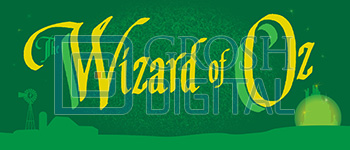 Wizard of Oz Show Curtain Projected Backdrop for