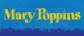 Mary Poppins Show Curtain Projected Backdrop for Mary Poppins, Show Curtains