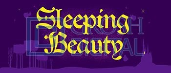 Sleeping Beauty Show Curtain Projected Backdrop for Show Curtains, Sleeping Beauty