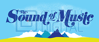 Sound of Music Show Curtain Projected Backdrop for