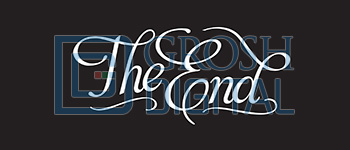 The End Show Curtain Projected Backdrop for
