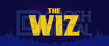 The Wiz Show Curtain Projected Backdrop for Wizard of Oz