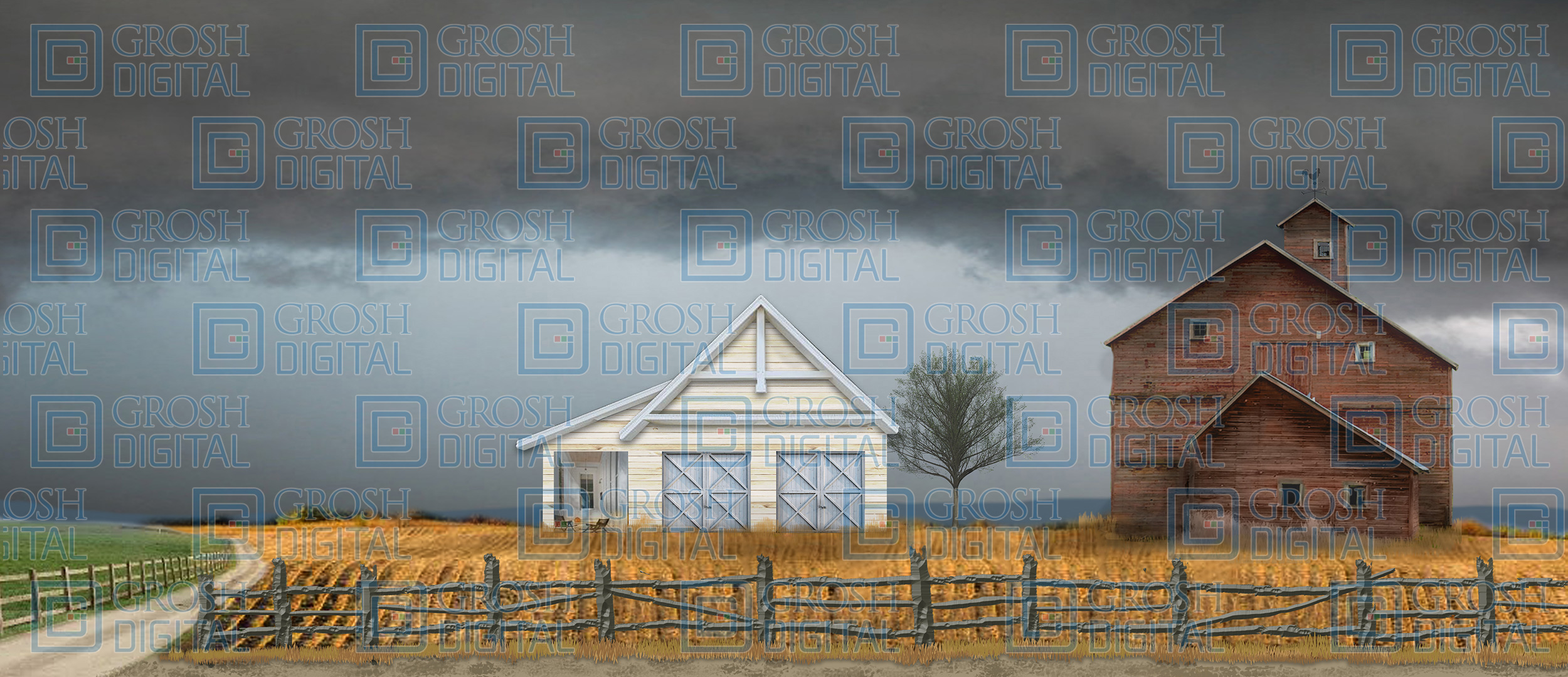 Kansas Farm Projected Backdrop for Landscapes, Oklahoma, Seven Brides for Seven Brothers, Wizard of Oz