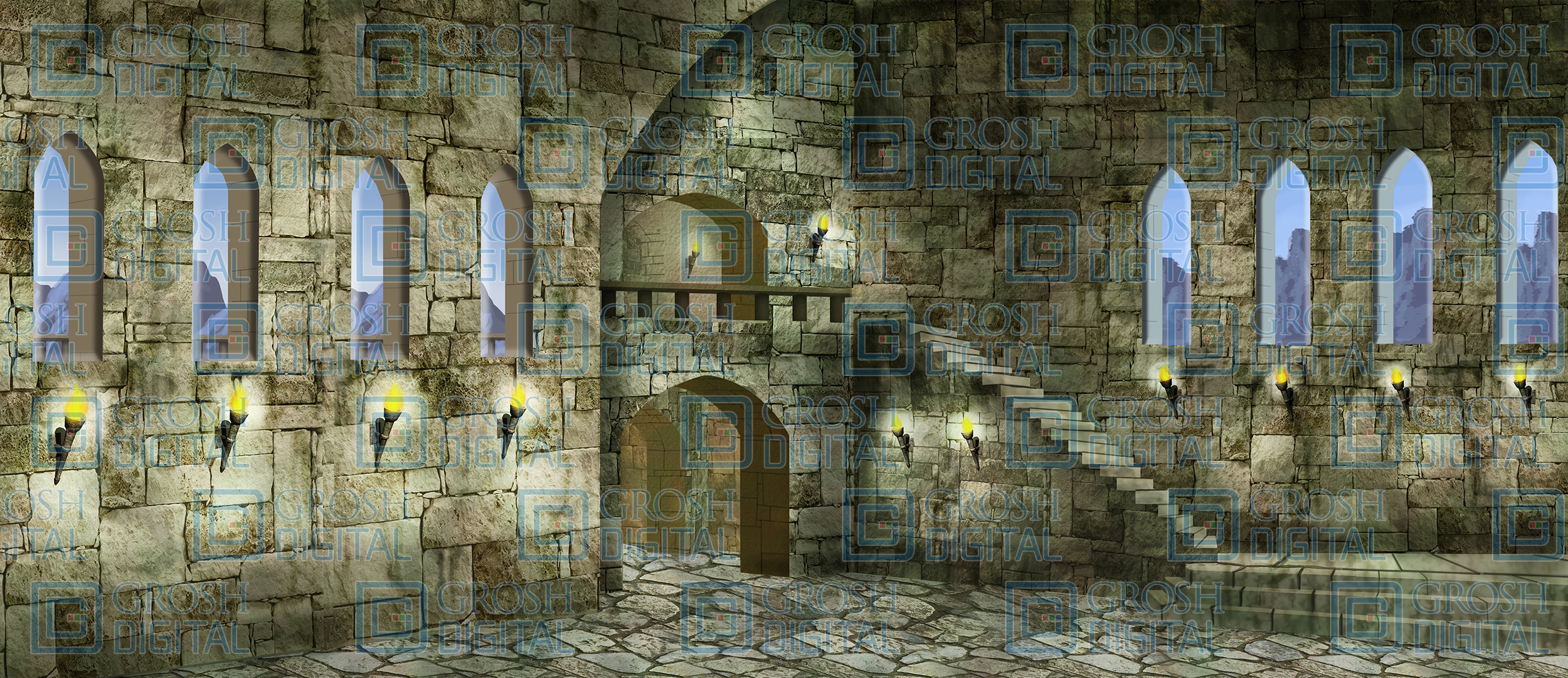Witches Castle Projected Backdrops Grosh Digital