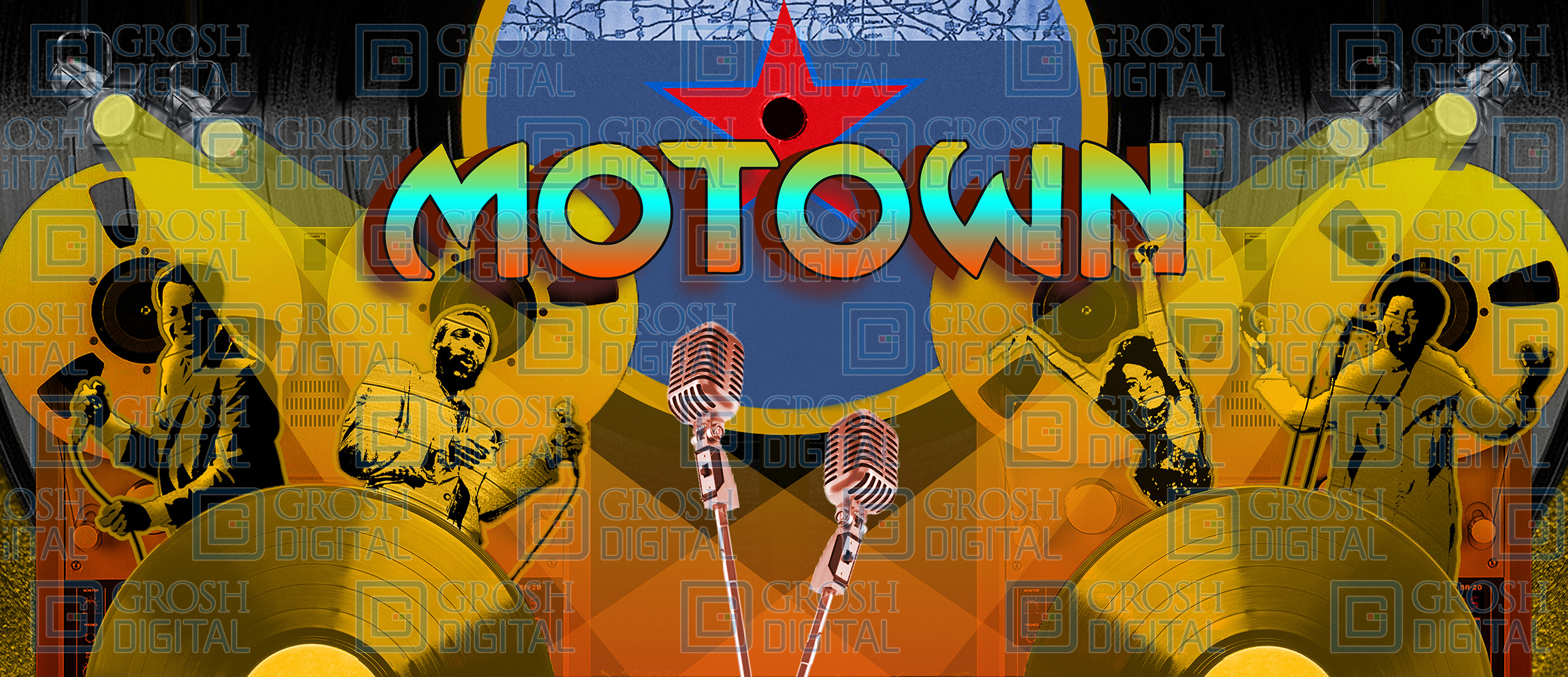 Motown Projected Backdrop for Abstract, Dance