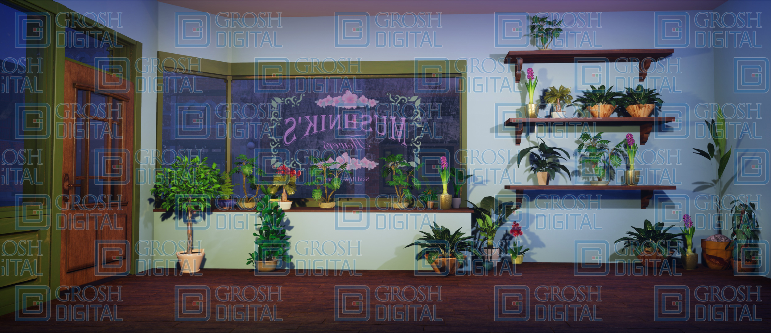 Mushnik's Flower Shop Projected Backdrop for Interiors, Little Shop of Horrors