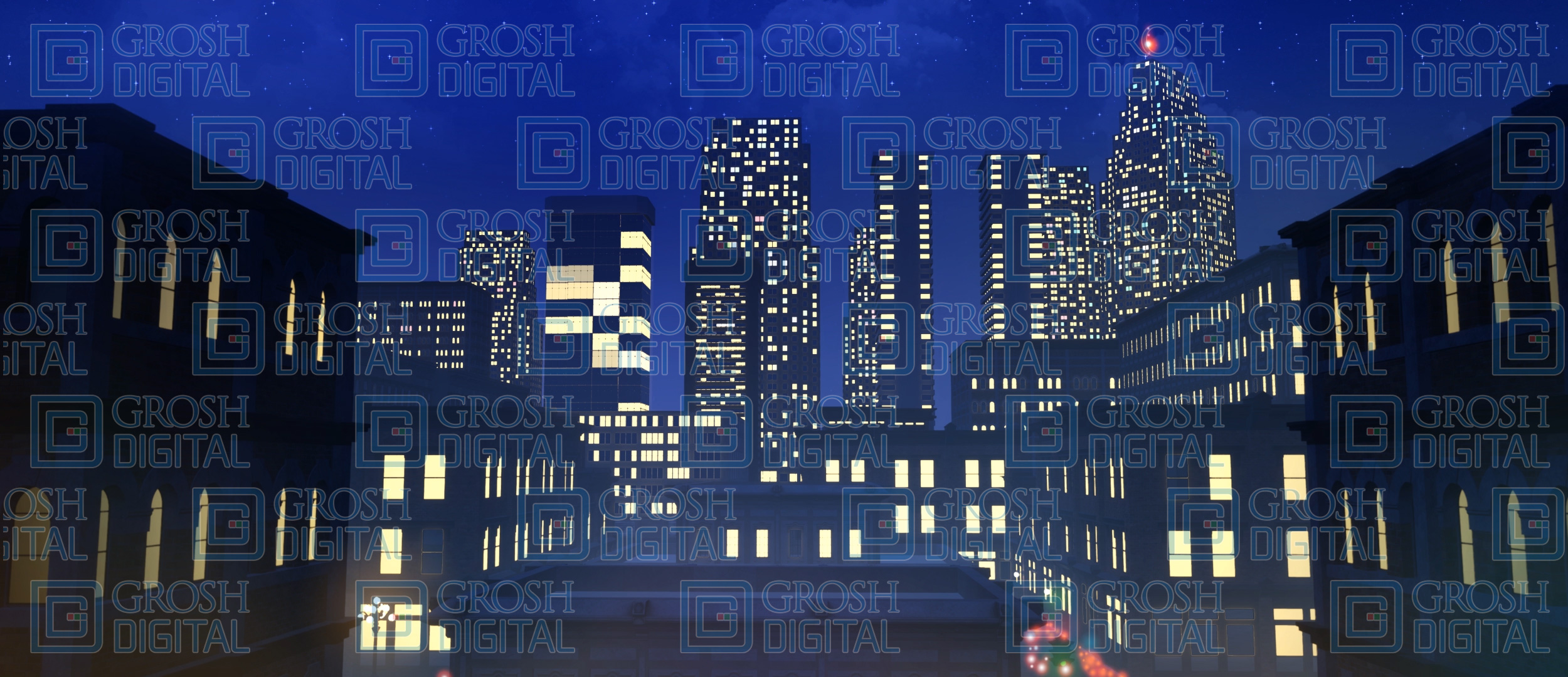 New York Rooftops Projected Backdrop for Broadway/New York, Exteriors, How to Succeed in Business, Skylines, Thoroughly Modern Millie