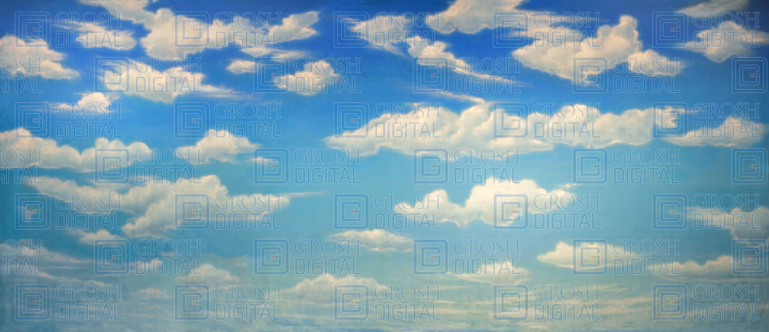 Cloudy Sky Projected Backdrop for Mamma Mia, Oklahoma, Peter Pan, Skies