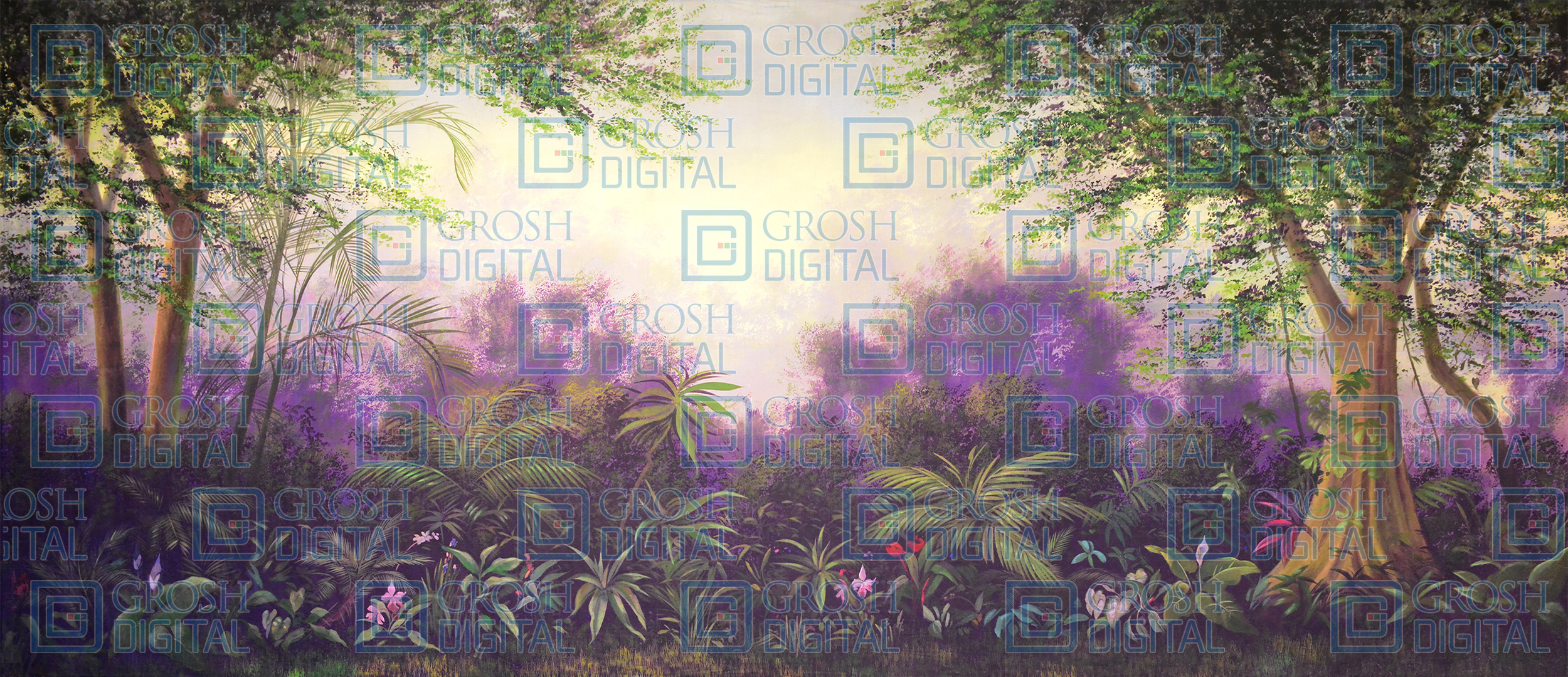 Tropical Jungle Projected Backdrop for Beach/Tropical, Forest, Into the Woods, Madagascar, Seussical