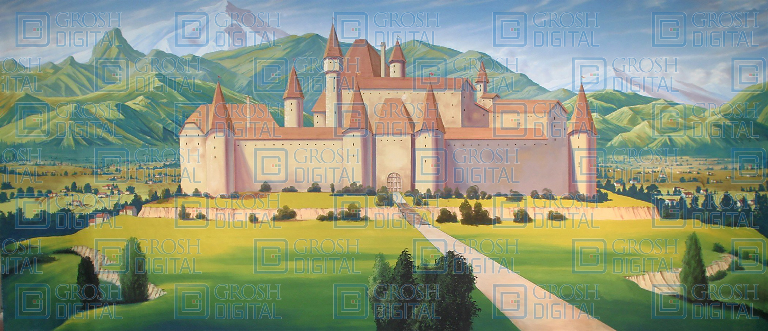 Castle Projected Backdrop for Beauty and the Beast, Castles, Cinderella, Landscapes, Shrek, Sleeping Beauty