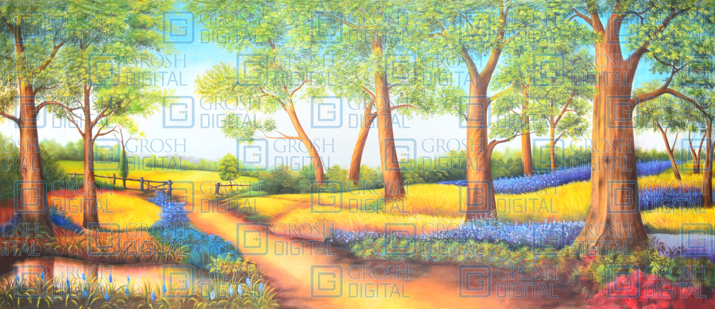 Country Landscape Projected Backdrop for Beauty and the Beast, Landscapes, Mary Poppins, Show, Sound of Music, Wizard of Oz