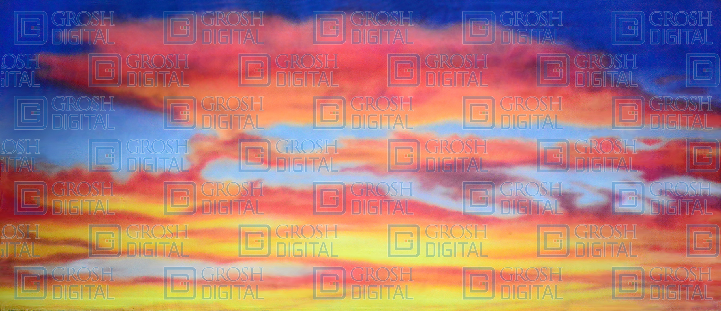 Sunset 2 Projected Backdrop for Beach/Tropical, Footloose, Joseph and the Amazing..., Lion King, Skies