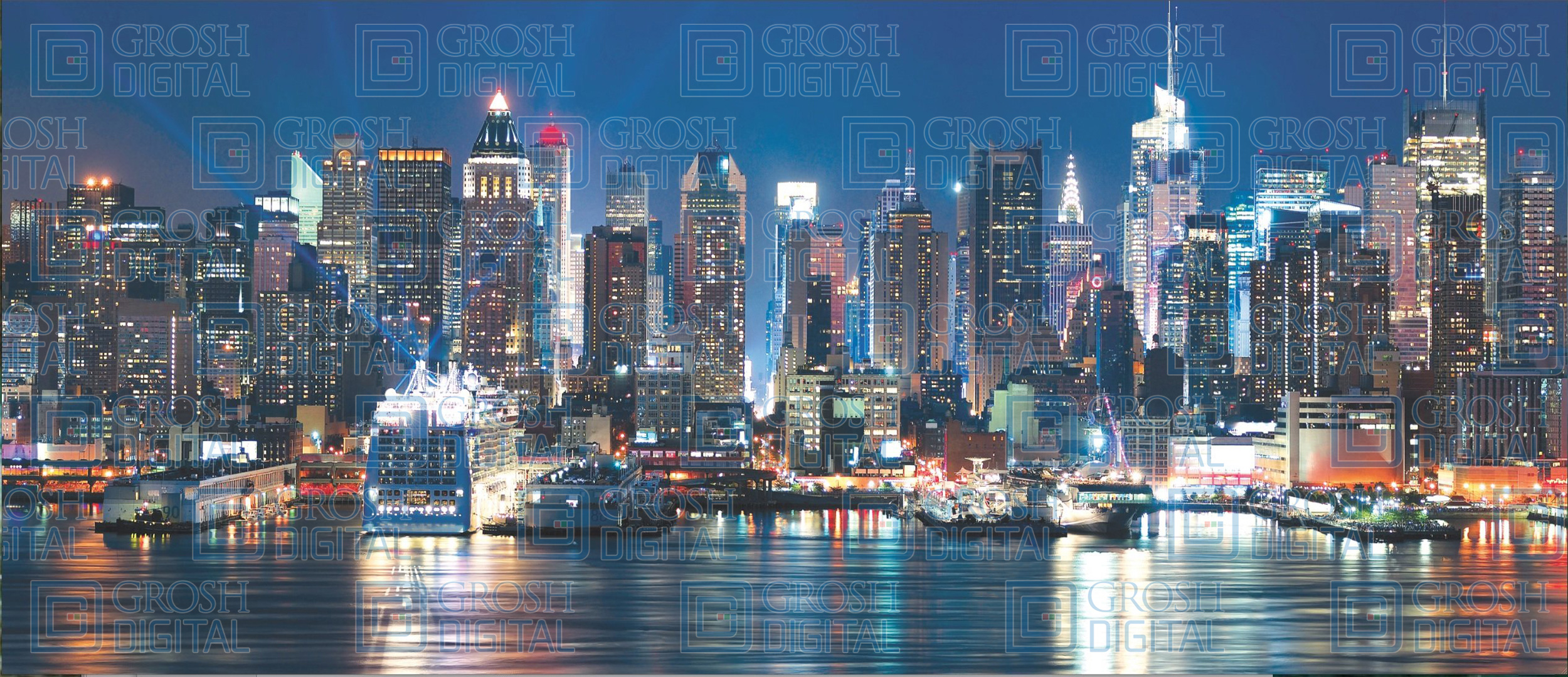 Photo-Realistic New York Skyline Projected Backdrop for Broadway/New York, Dance, How to Succeed in Business, In the Heights, Skylines, Travel
