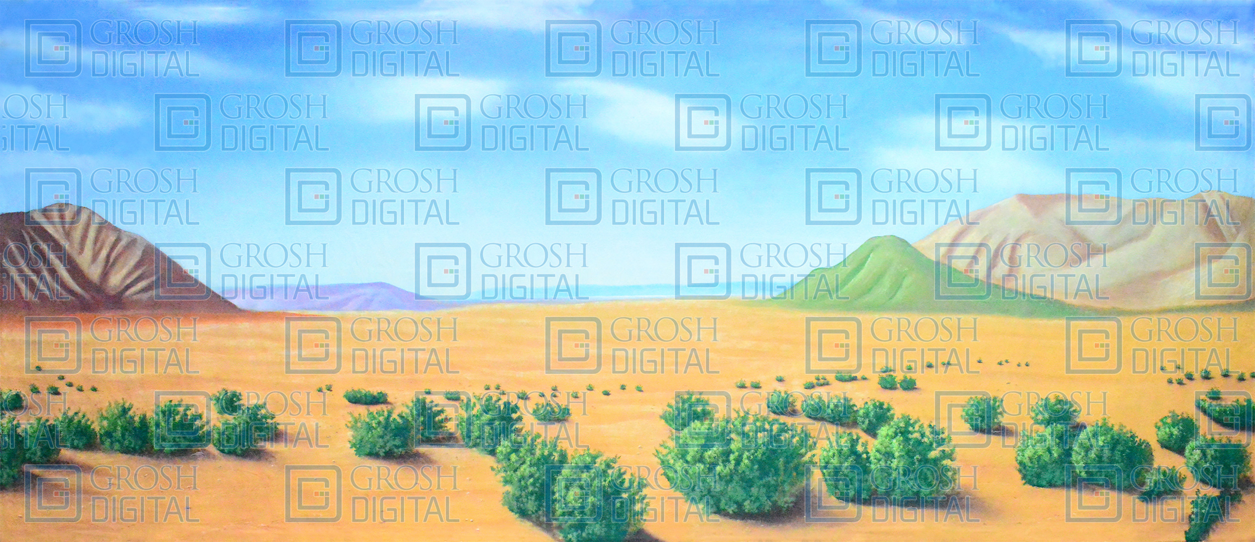 Desert Landscape Projected Backdrop for Aladdin, Annie Get Your Gun, Crazy for You, Desert, Footloose, Joseph and the Amazing..., Landscapes, Seven Brides for Seven Brothers, Western