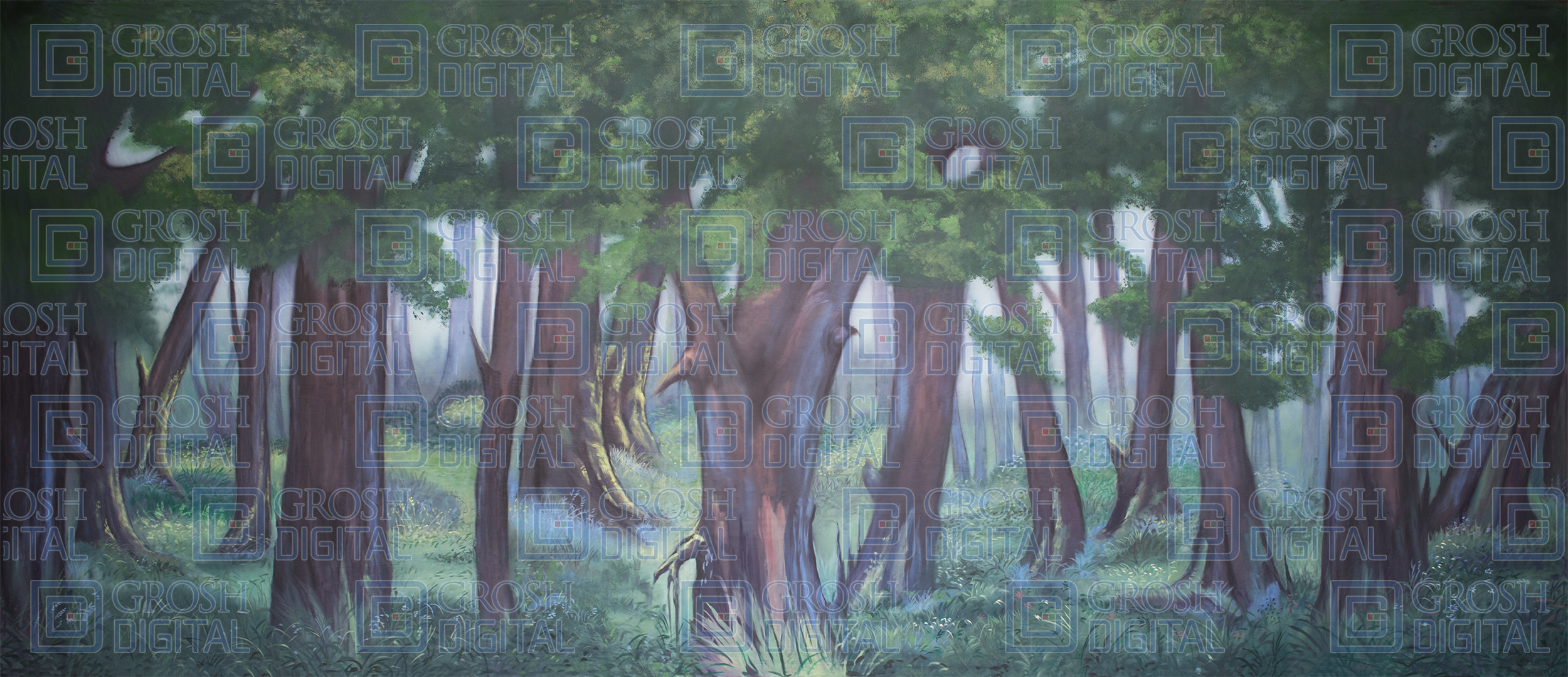 Forest 10 Projected Backdrop for Addams Family, Beauty and the Beast, Big Fish, Brigadoon, Cinderella, Forest, Into the Woods, Lion King, Madagascar, Peter Pan, Shrek, Sleeping Beauty, Wizard of Oz