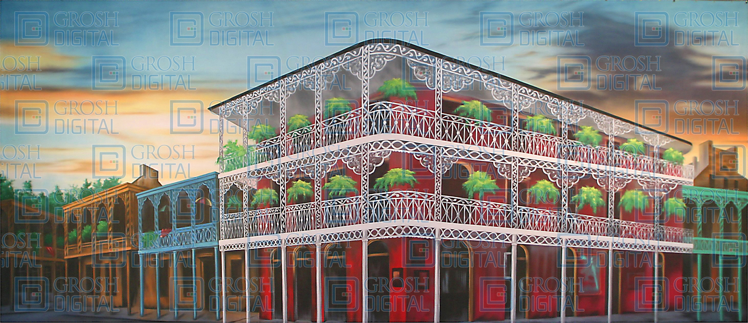 French Quarter Projected Backdrop for Exteriors