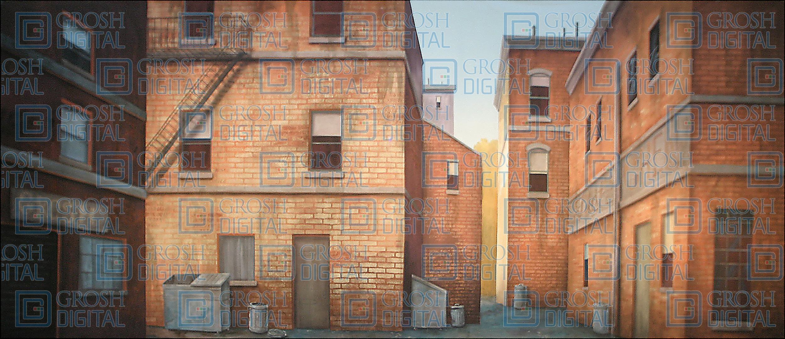 Back Alley Projected Backdrop for Annie, Exteriors, In the Heights, Little Shop of Horrors, Newsies, Streets, West Side Story