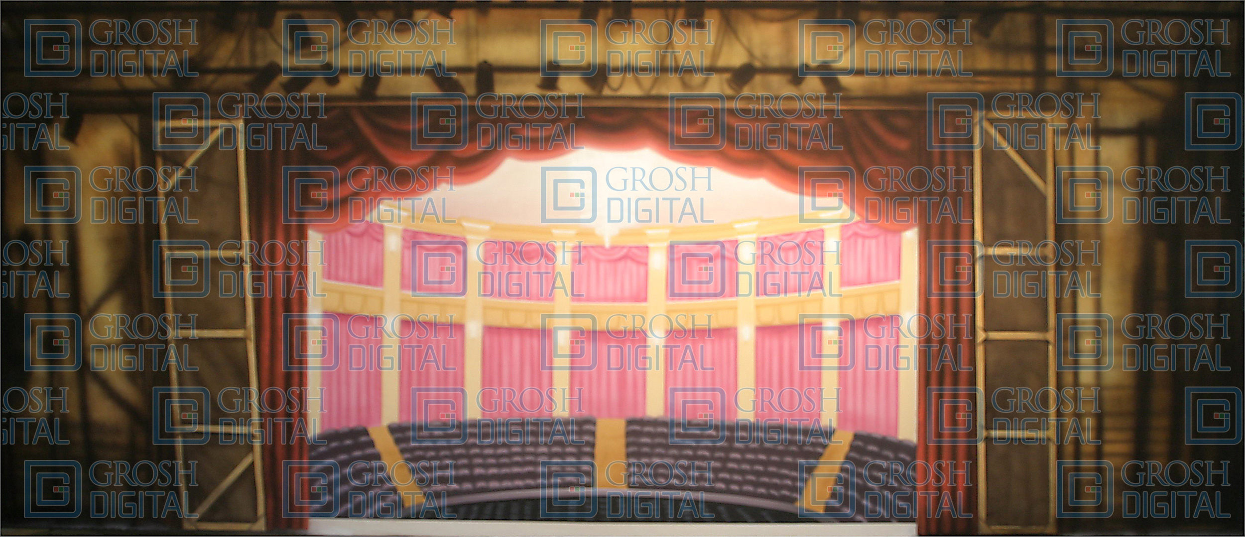 Rear Backstage Theatre Projected Backdrop for 42nd Street, Bye Bye Birdie, Crazy for You, Interiors