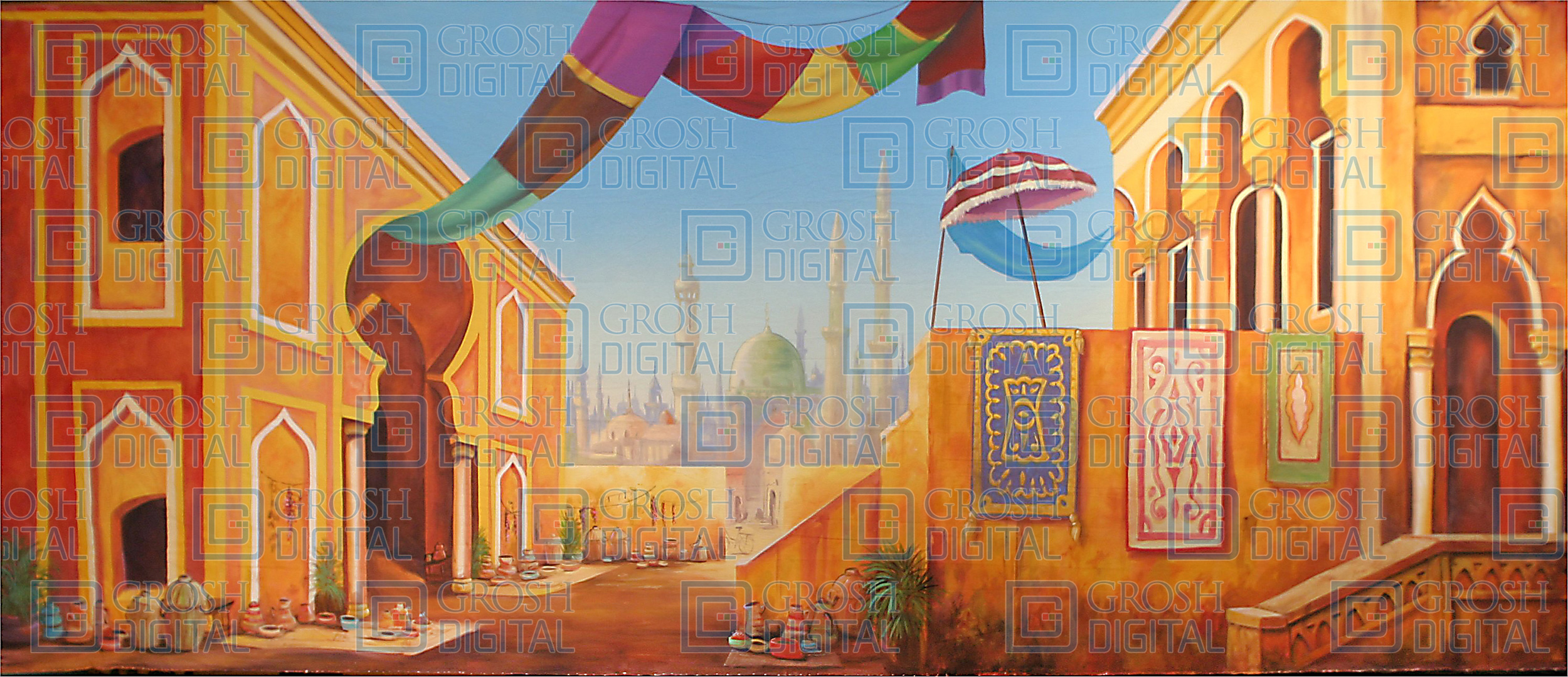 Arabian Marketplace Projected Backdrop for Aladdin, Desert, Exteriors, Joseph and the Amazing...