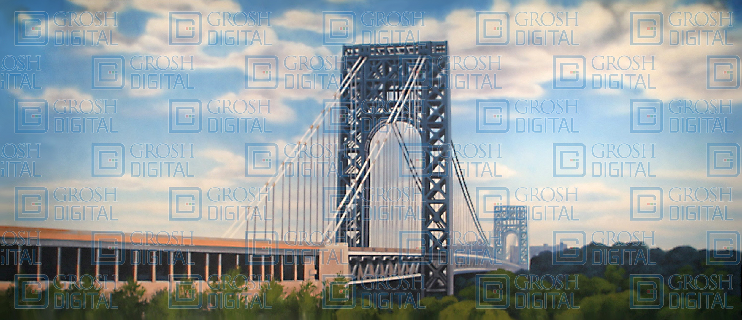 George Washington Bridge Projected Backdrop for Exteriors, In the Heights, West Side Story