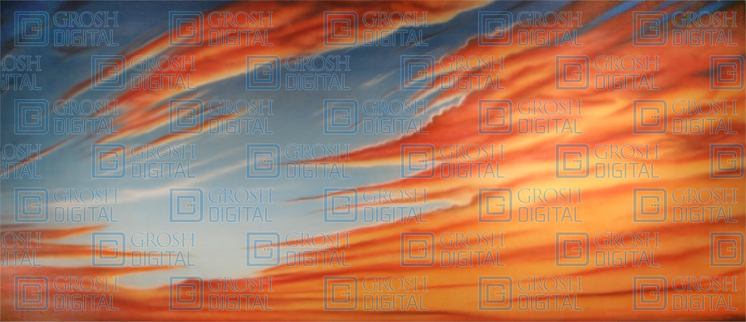 Dramatic Sunset Projected Backdrop for Beach/Tropical, Fiddler on the Roof, Footloose, Joseph and the Amazing..., Lion King, Skies