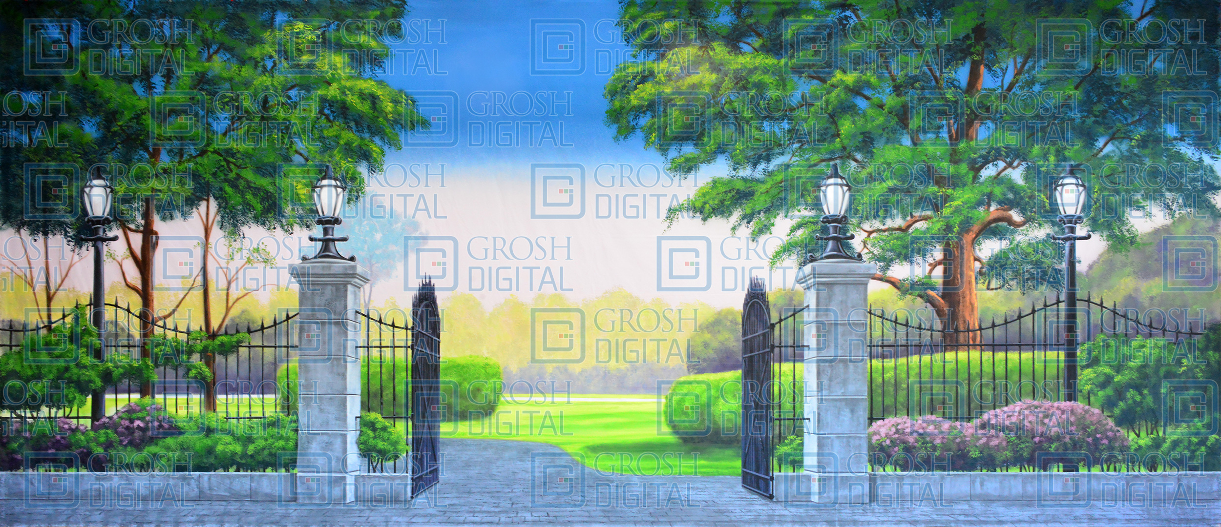 Park Projected Backdrop for Landscapes, Mary Poppins, Pajama Game