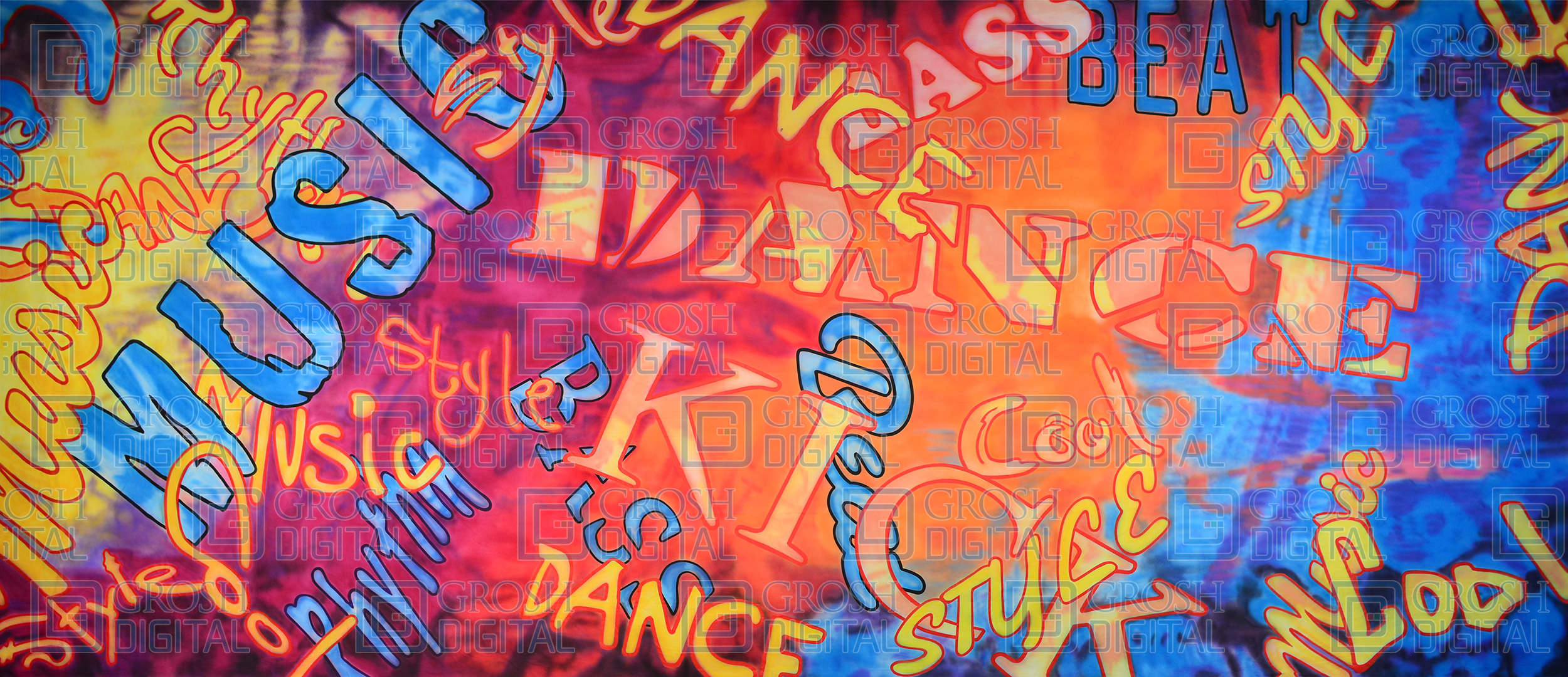 Hip Hop Hooray 2 Projected Backdrop for Abstract, Dance