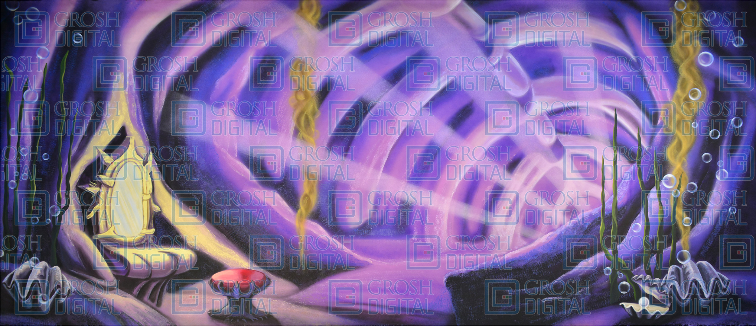 Ursula's Lair Projected Backdrop for Little Mermaid