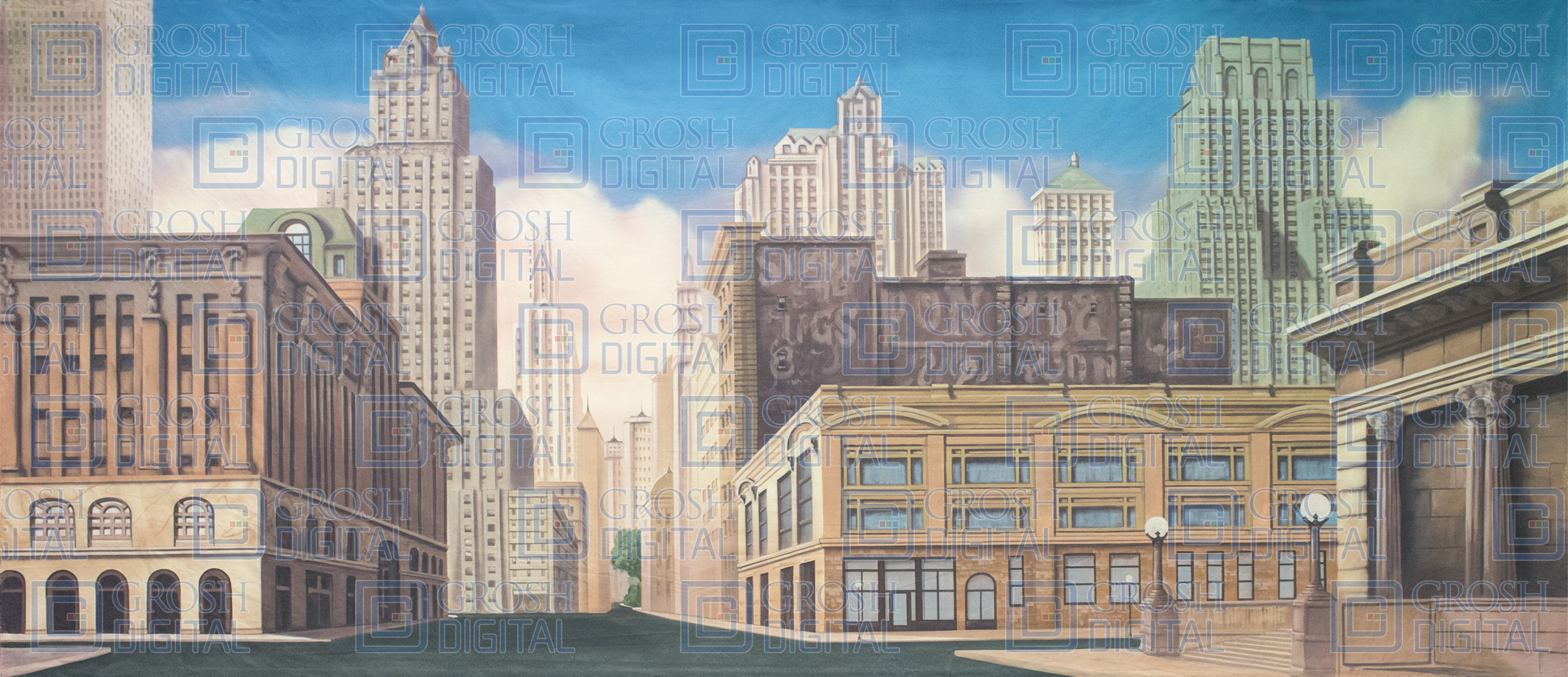 New York Street Projected Backdrop for 42nd Street, Annie, Big Fish, Broadway/New York, Damn Yankees, Elf the Musical, Exteriors, Guys and Dolls, Hairspray, How to Succeed in Business, In the Heights, Madagascar, Newsies, Streets, Thoroughly Modern Millie, West Side Story