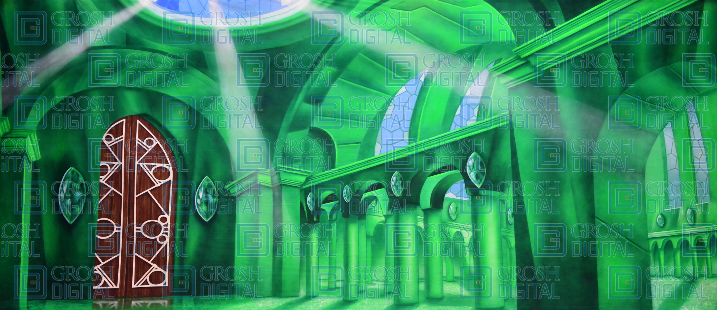 Oz Emerald City Interior Projected Backdrop for Interiors, Wizard of Oz