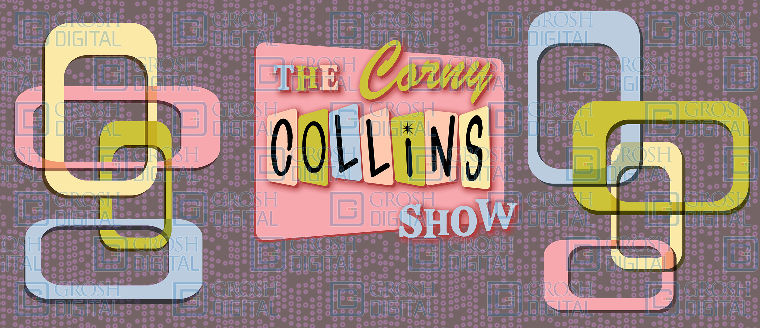 Corny Collins Show Projected Backdrop for Hairspray