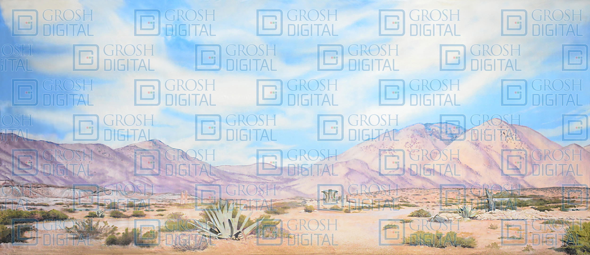 Desert Landscape Projected Backdrop for Aladdin, Annie Get Your Gun, Crazy for You, Desert, Footloose, Joseph and the Amazing..., Western