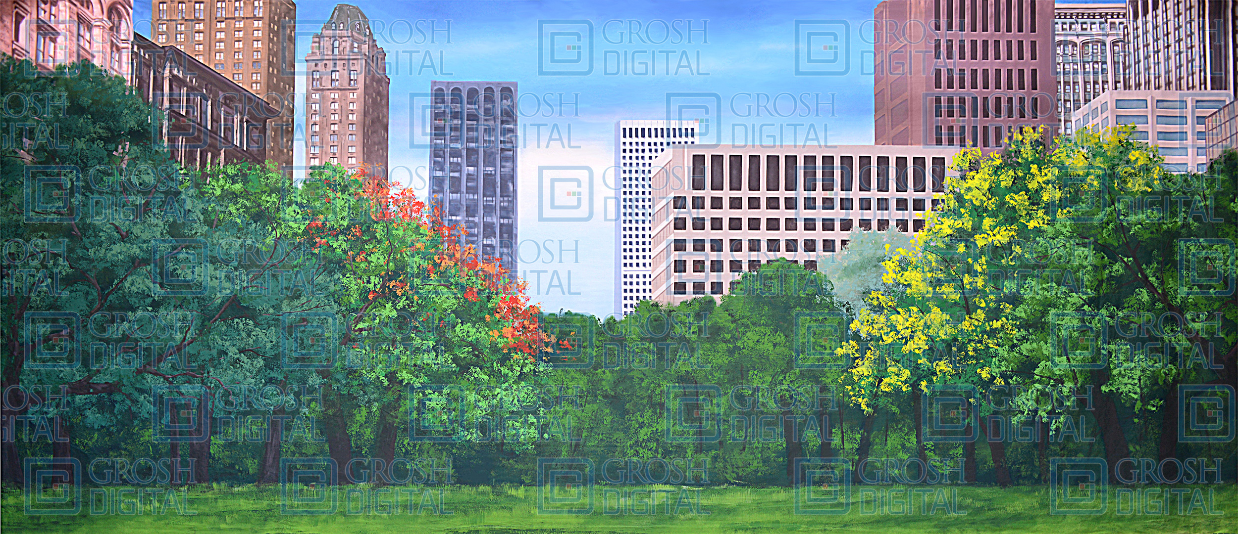 Central Park 2 Projected Backdrop for Annie, Broadway/New York, Damn Yankees, Elf the Musical, Guys and Dolls, How to Succeed in Business, Landscapes, Madagascar, Music Man, Skylines, Thoroughly Modern Millie