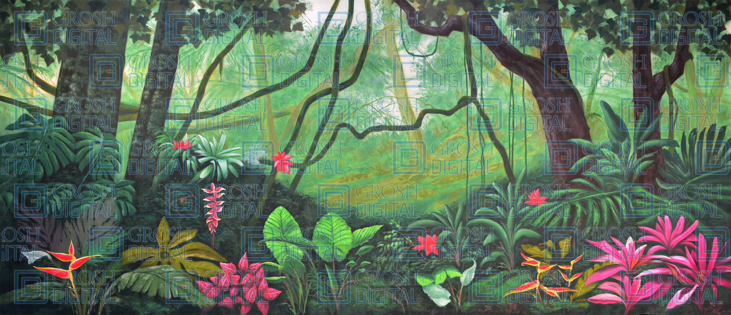 Lush Jungle Projected Backdrop for Beach/Tropical, Forest, Lion King, Madagascar, Moana, Peter Pan