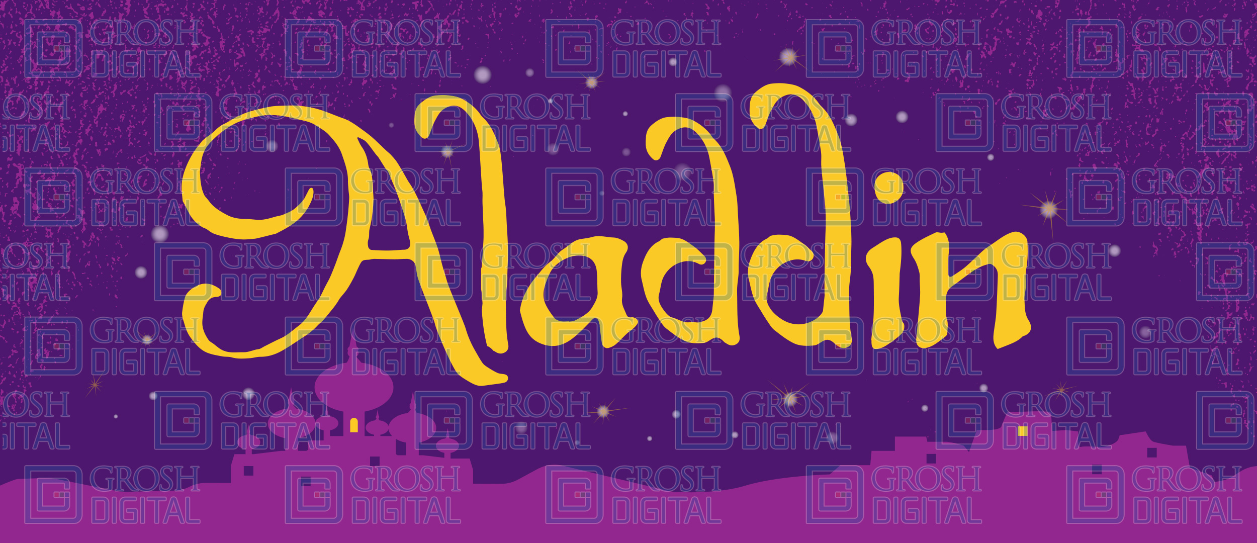 Aladdin Show Curtain Projected Backdrop for Aladdin, Show Curtains