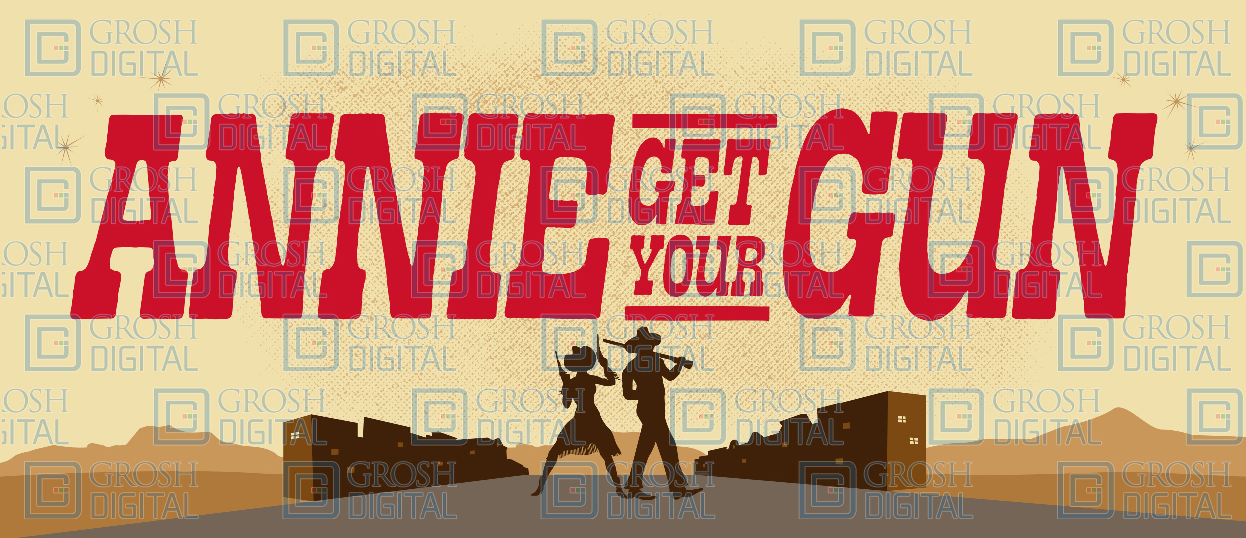 Annie Get Your Gun Show Curtain Projected Backdrop for Annie Get Your Gun, Show Curtains