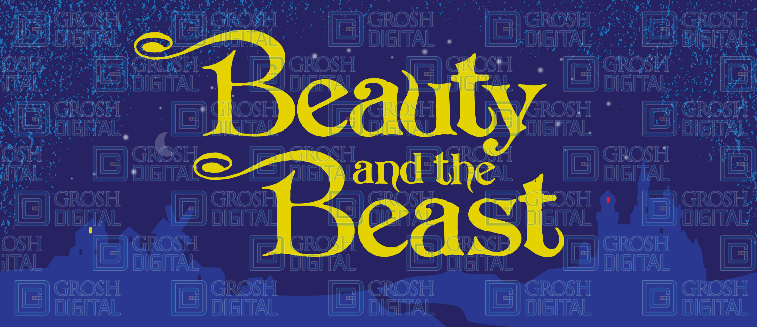 Beauty And The Beast Show Curtain Projected Backdrops