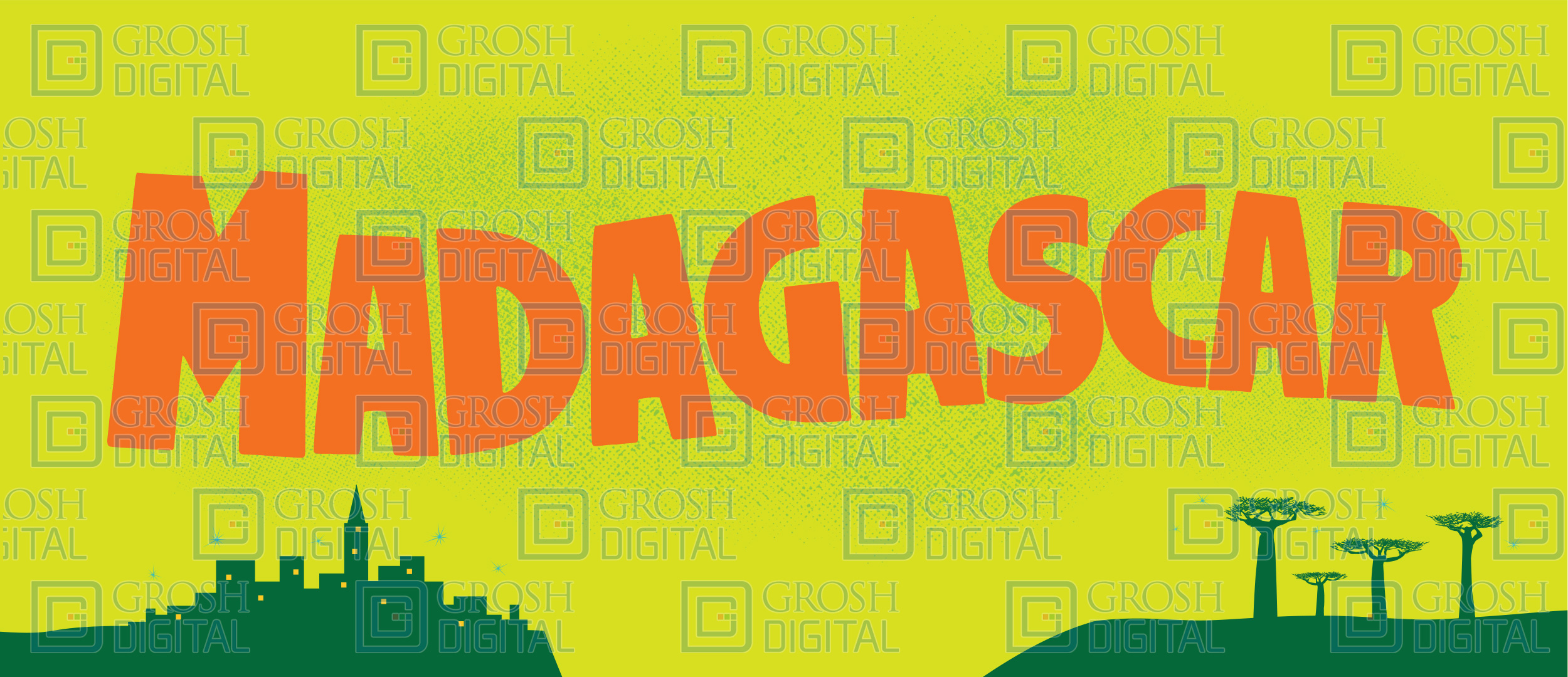 Madagascar Show Curtain Projected Backdrops Grosh Digital