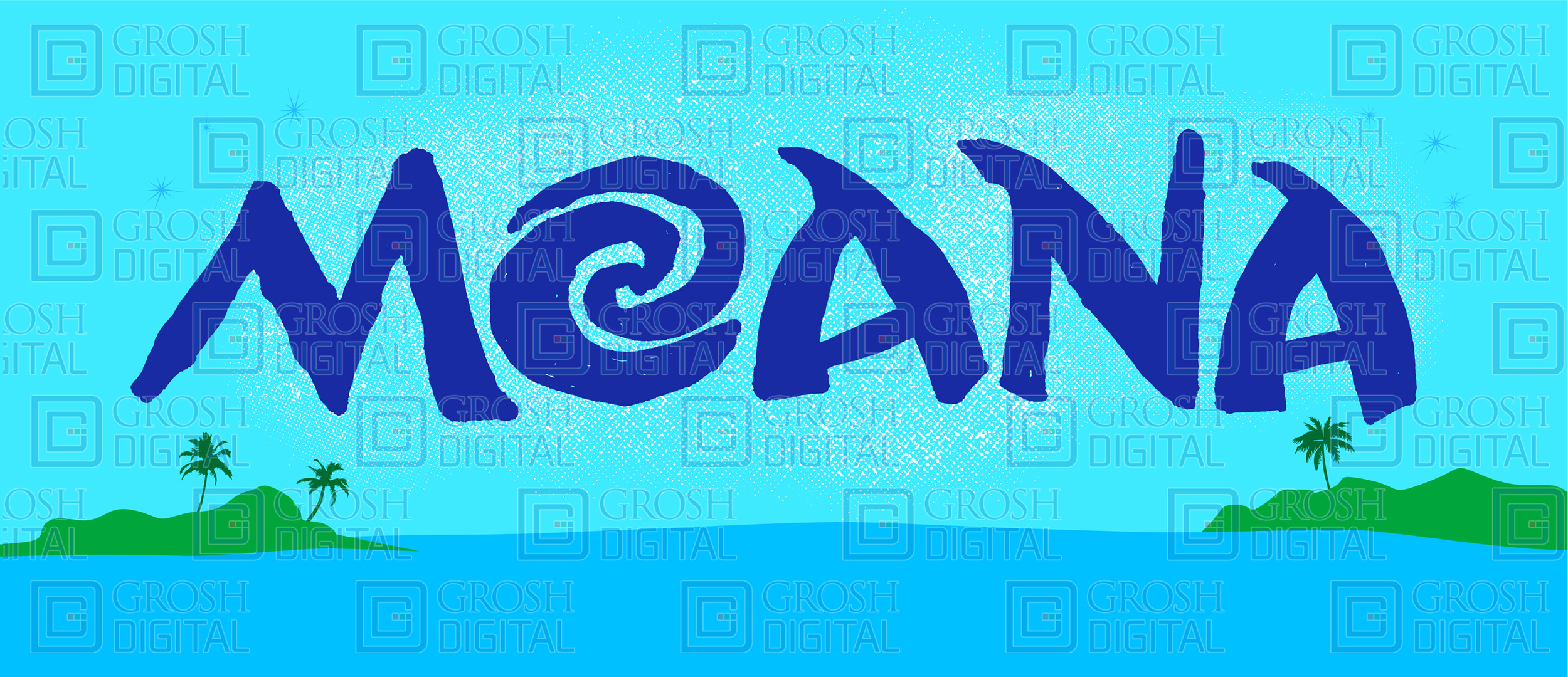 Moana Show Curtain Projected Backdrops Grosh Digital
