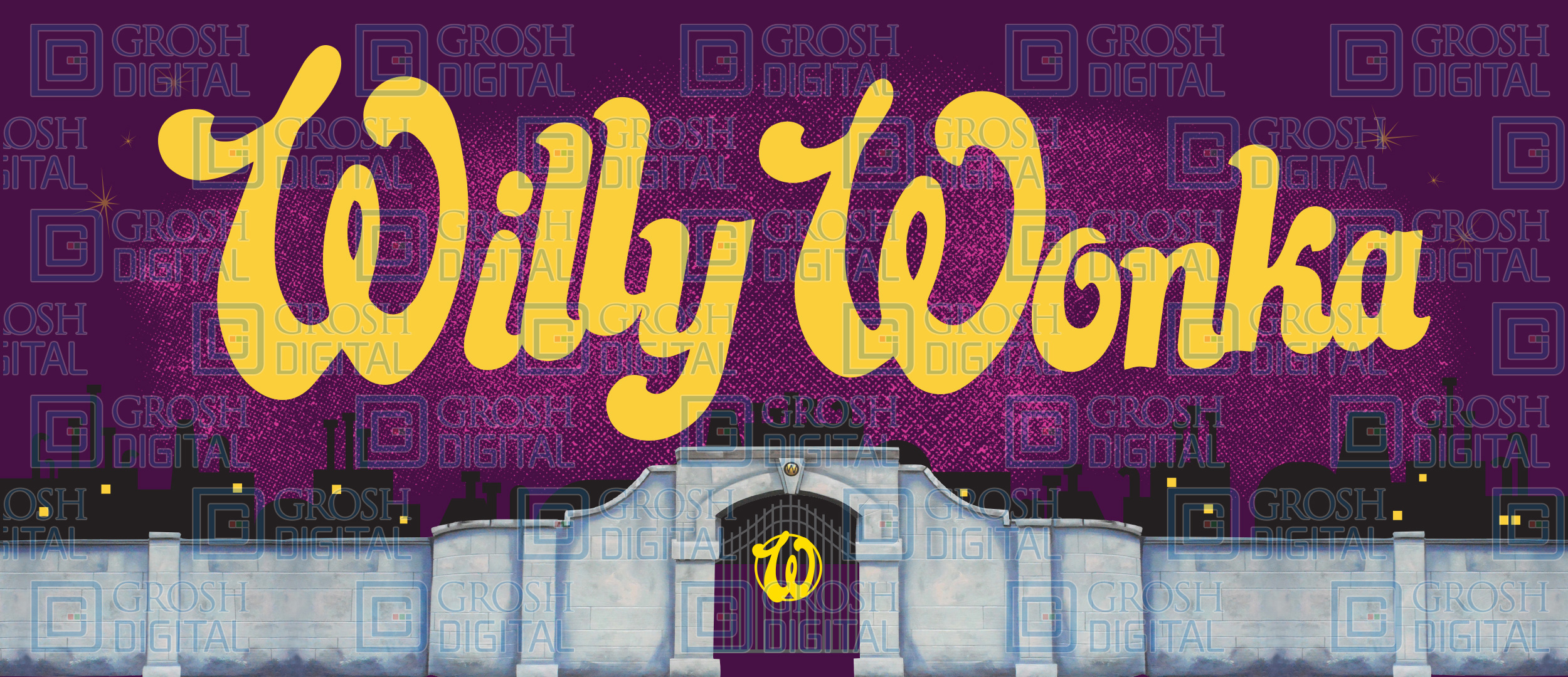Willy Wonka Show Curtain Projected Backdrops Grosh Digital