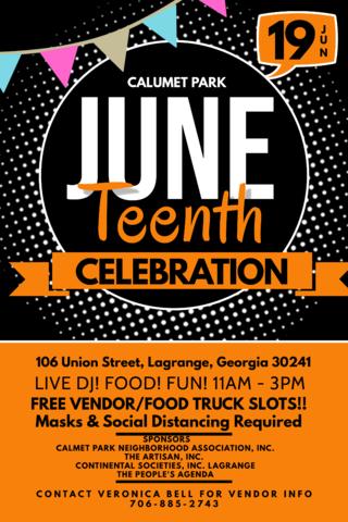 Calumet Park Juneteenth Celebration