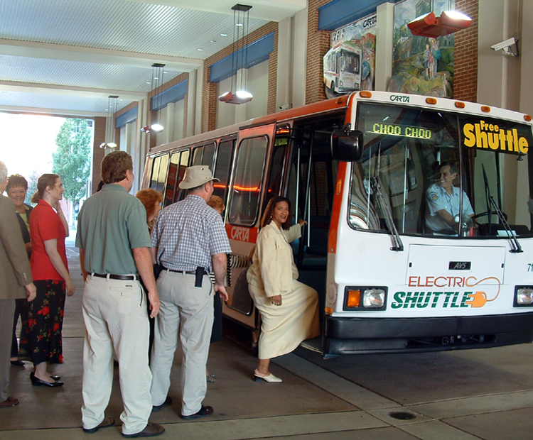 Free Electric Shuttle through downtown