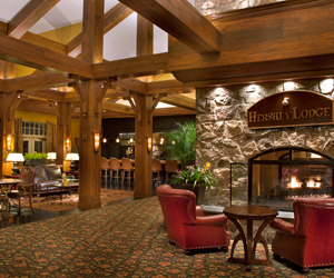 Viw of the Lobby of the Hershey Lodge