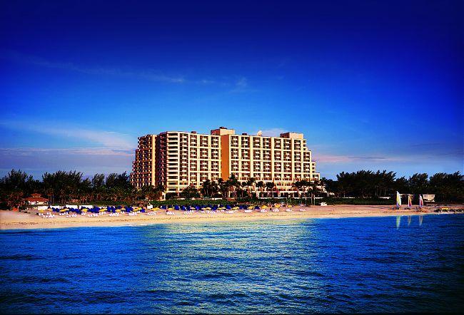 Hotel from ocean