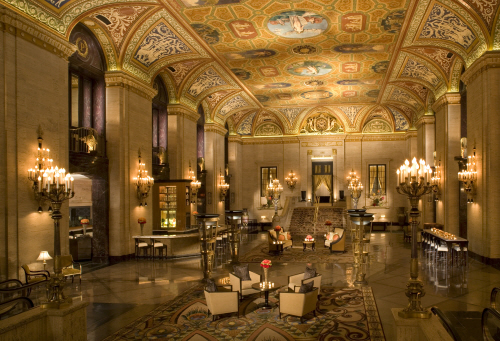 Lobby at the Palmer House Hilton
