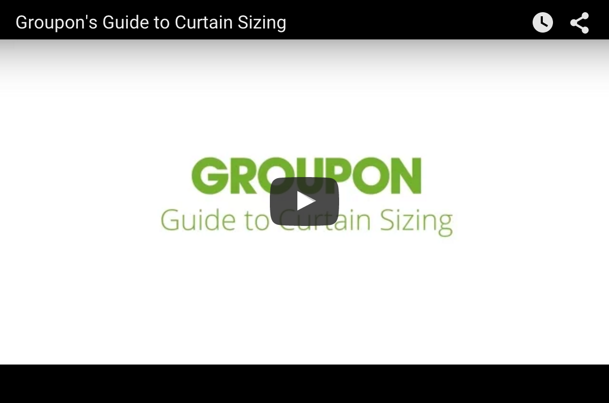 video guide to curtain sizing
